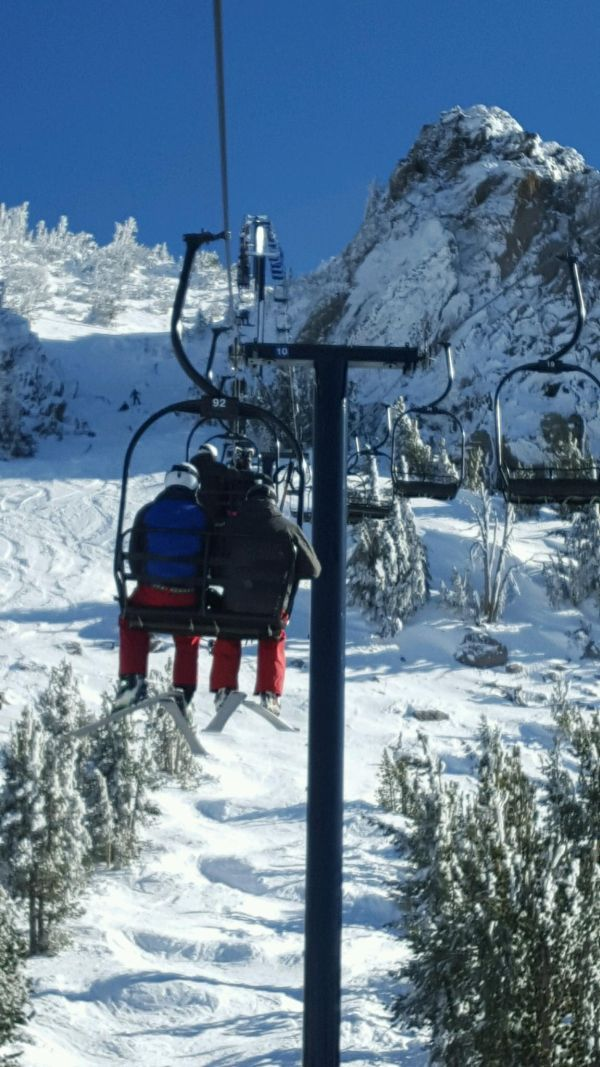 chair lift people up close